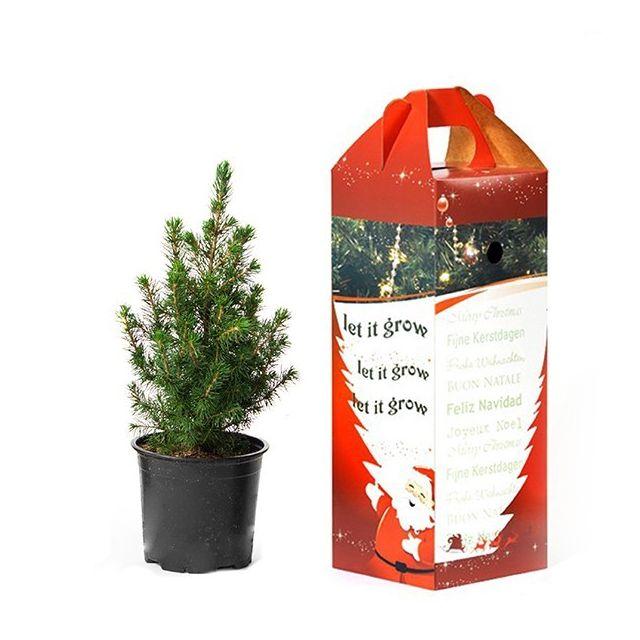Bureau kerstboompje in cadeauverpakking