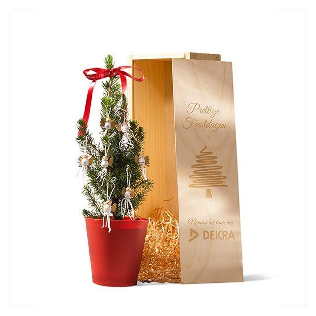 Bureau kerstboompje in geschenkkist